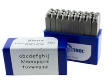 Siena Lower Case Letter Punch Set 3mm  27pcs Free U.S. Shipping