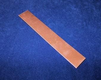 Copper Sheet 16ga 6 in. x 1 in. 1.30mm Thick