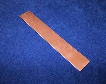 Copper Sheet 24ga 6 in. x 2 in. .51mm Thick