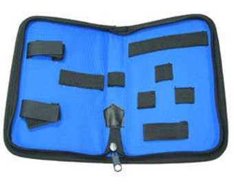 Tool Pouch With Zipper Blue In Color