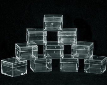 Square Clear Acrylic Bead/Gem Boxes 25 Qty
