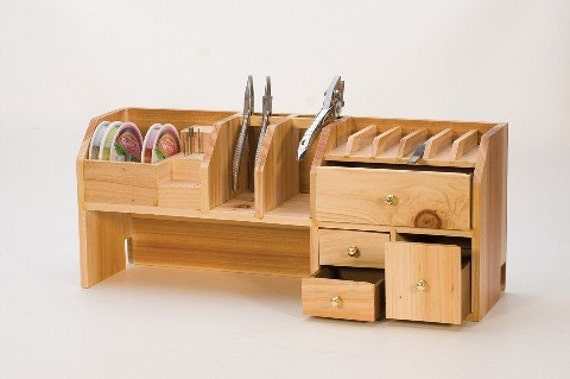 Crafters Bench Top Organizer And Stand
