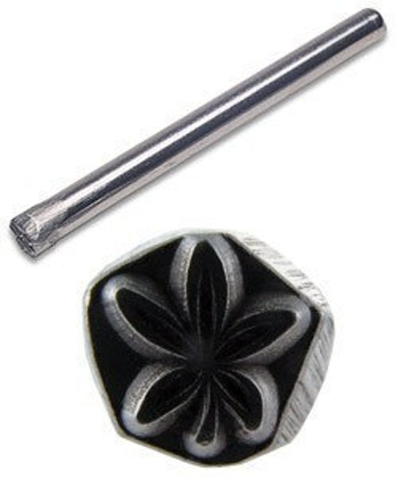 Jewelers Or Metal Worker Design Stamp Modern Leaf 117
