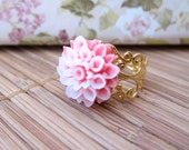 Sophia- Fancy Vintage Chrysanthemum Ring