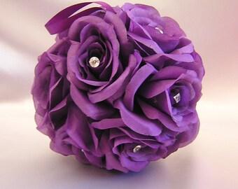 Wedding Reception Kissing Ball Pomander Pew Decorations Flower Girl Basket Bouquet Your Colors