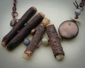 Organic Wooden Toggle Necklace