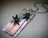 Mixed Metal Flower Garden Necklace