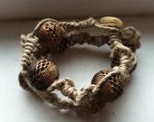 Hemp & Metal Bracelet