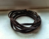 Multi-Wrap Leather Bracelet - Brown