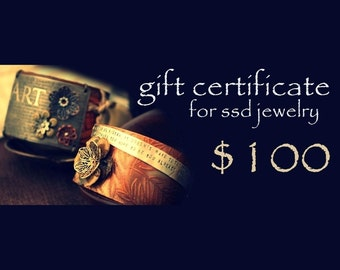 One-Hundred Dollar GIFT CERTIFICATE