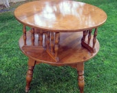 Vintage Baumritter (Ethan Allen) Rotating Coffee Table / Retro Maple Furniture / Pickup in Palm Springs, CA