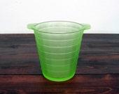 "Vintage Frigidaire ""Icerver"" Uranium Glass Ice Bucket / Anchor Hocking Depression Glass"