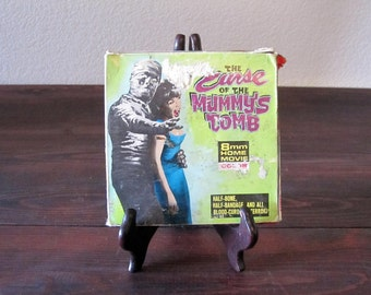 Vintage 8mm The Curse of the Mummy's Tomb Home Movie / Movie Monster Film Reel