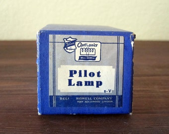 Vintage Bell and Howell Pilot Lamp / 6 Watt 120 Volt / Unused Dead Stock