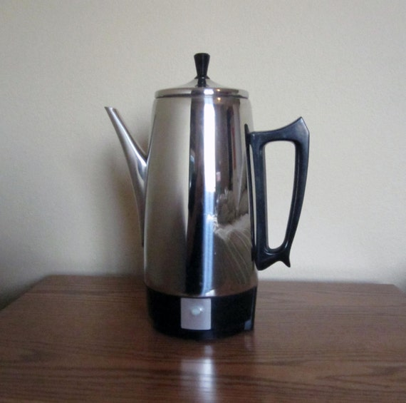 Coffee Maker On Clearance : CLEARANCE / Vintage Chrome Coffee Percolator / Retro Coffee
