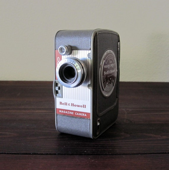 Vintage Bell and Howell 172 8mm Magazine Movie Camera / Retro Home Movie Camera
