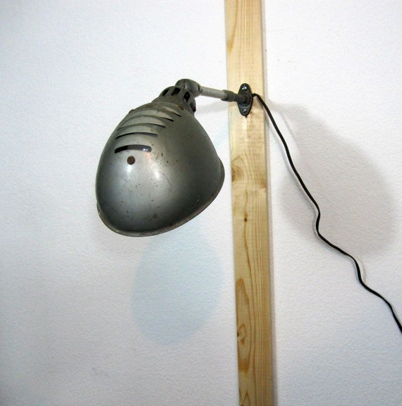 Wall Mounted Industrial Lights : Vintage Industrial Wall Mounted Lighting / Retro Garage by MidMod