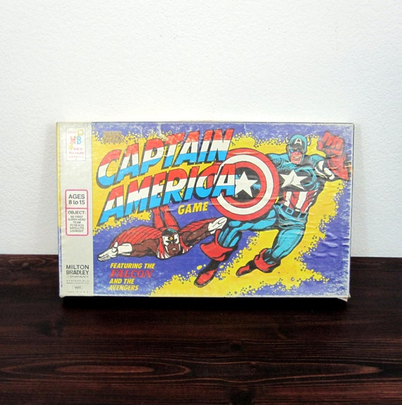 Vintage Captain America with Falcon Board Game by Milton Bradley