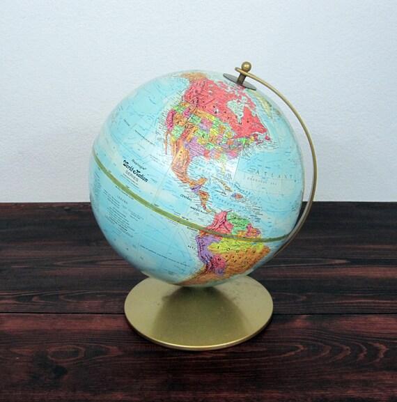 Vintage 1980s Replogle World Nation Globe