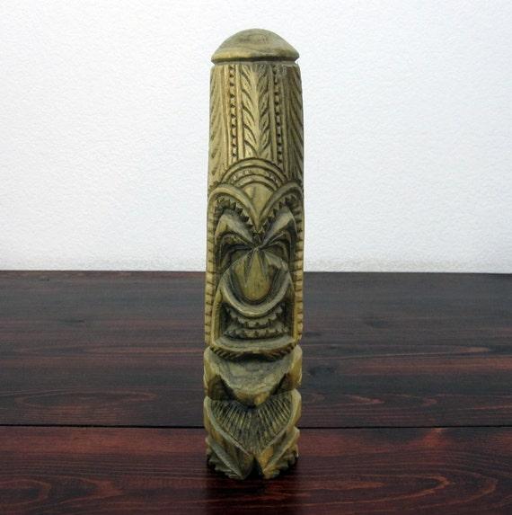 Vintage Carved Wood Tiki Statue / Retro Tiki Collectible