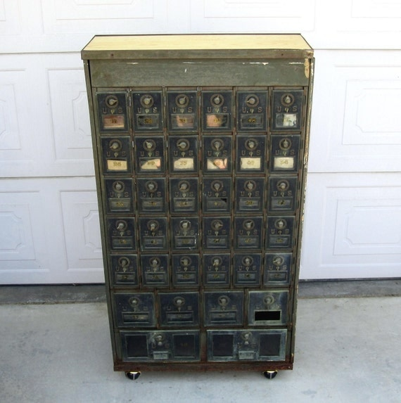 Reserved Antique Post Office Box Vintage Multiple Box Post