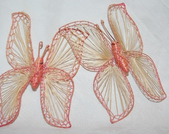 Pink Butterflies from the 1960s at Bohemian Angel Retro Wedding Decor for Free Spirits Only