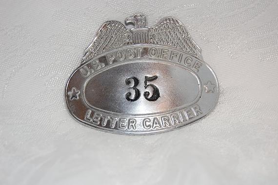 Vintage US Post Office Letter Carrier Hat Badge at Bohemian Angel