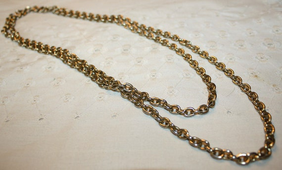 CLEARANCE PRICE Long Gold Tone Chunky Chain Necklace