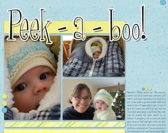 Baby Boy Custom Scrapbook Page