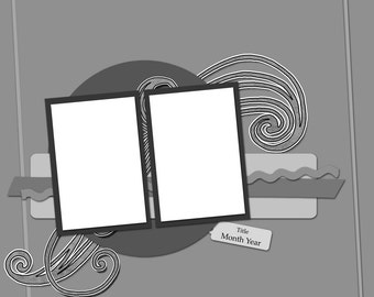 Digital Scrapbook Template & Tutorial