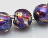Fire Opal,  Lampwork Beads, Handmade, SRA