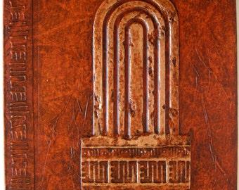 Refillable Journal Handmade Distressed Rust Copper Arch 9x7 Original