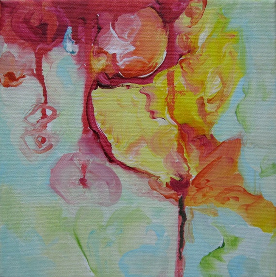 Abstract Art Original Modern Contemporary Painting. Bloom116