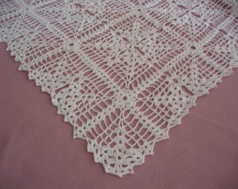 Hand Crocheted White Table Runner - Perfect for all Occasions - Decorative Trellis Design