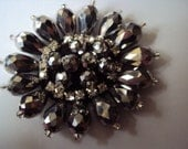 Elegant Crystal and Glass Bead  Applique