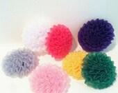 Flatback Chiffon Flower Puffs for Headbands