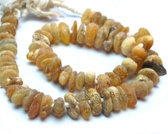 "Medium size Rough African ""Ocean"" Amber, Irregular Nugget Beads, 12-16mm"