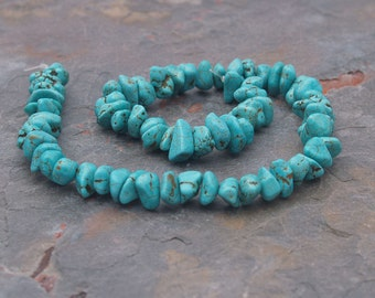 """Robin's Egg Blue Turquoise Color Magnasite 6-13mm Smooth NUGGET beads 15"""""""