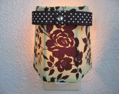 Green and Brown Rose Night Light