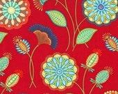 Gypsy Flower Red Half yard cut Michael Miller Fabric