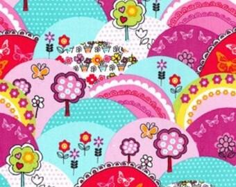Happy Hills Multi Michael Miller Fabric