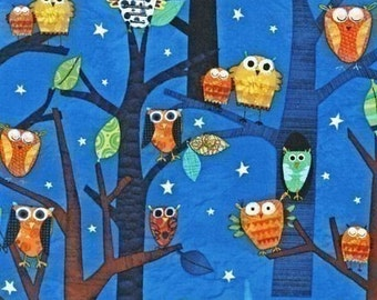 Robert Kaufman Fabric Forest Fun Owls Spring