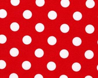 Quarter Dot Red Michael Miller Fabric