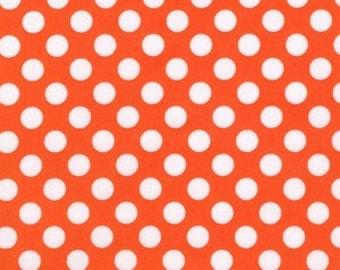 Michael Miller Fabric Ta Dot Tangerine Orange