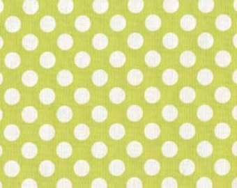Michael Miller Fabric Ta Dot Lime Green