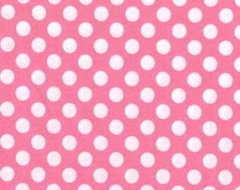 Michael Miller Fabric Ta Dot Candy Pink, Choose your cut