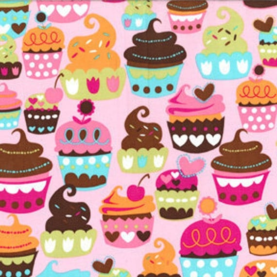 Sweet Treats Pink Michael Miller Fabric 1 yard, yardage available