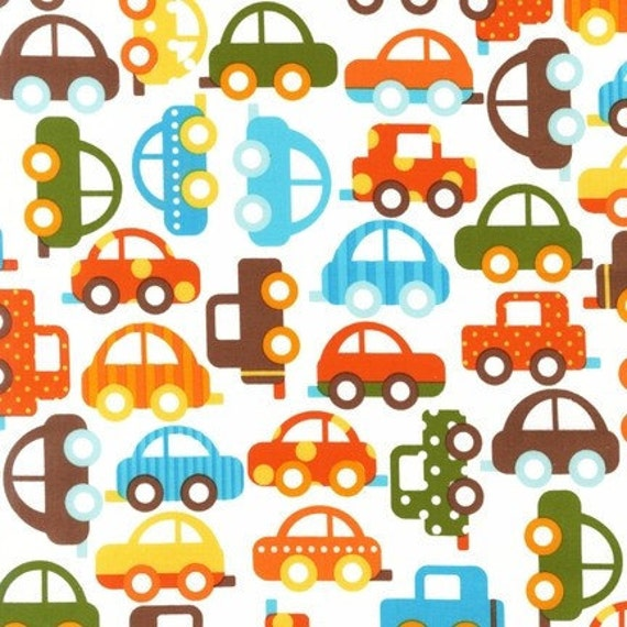 Ready Set Go Bermuda Cars Ann Kelle Designs Robert Kaufman Fabric Half yard