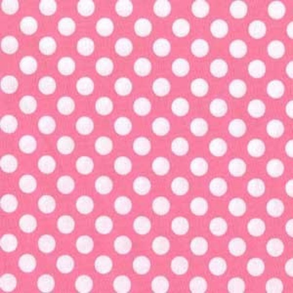 Michael Miller Fabric Ta Dot Candy Pink Half yard cut, yardage available