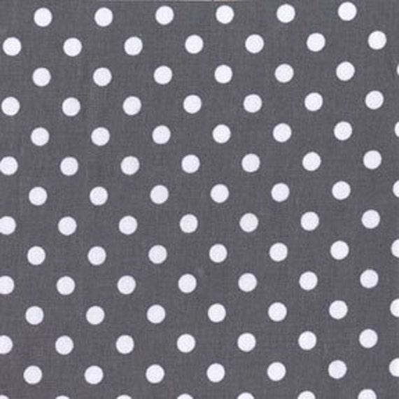 Michael Miller Fabric Dumb Dot Charcoal 1 Yard, yardage available